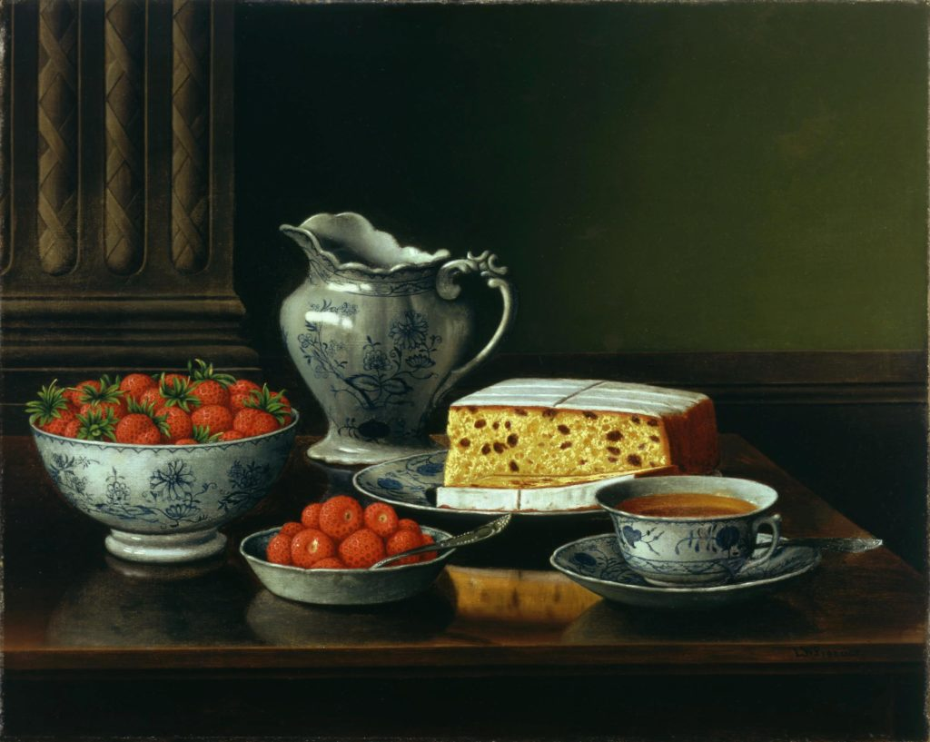 Still Life with Strawberries by Levi W. Prentice